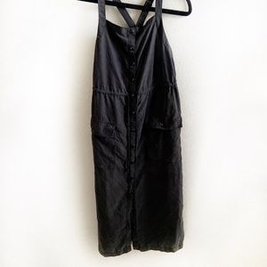 Urban Outfitters Black Drawstring Jumper Dress